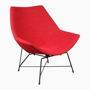 Kosmos Lounge Chair by Augusto Bozzi for Saporiti Italia, 1954