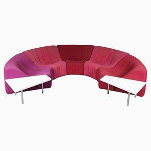 Chromatisches Sofa & Beistelltische von Kwok Hoi Chan für Steiner, 1970er