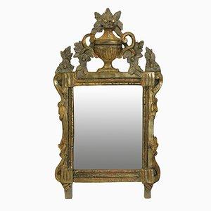 Antiker provinzieller französischer Spiegel, 1780er