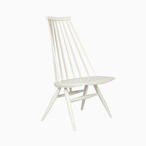 White Mademoiselle 57 Lounge Chair by Ilmari Tapiovaraa for Edsby Verken, 1957