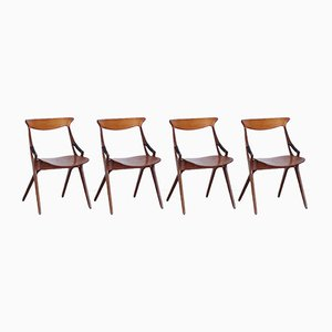 Modell 71 Stühle von Arne Hovmand Olsen für Mogens Kold, 1950er, 4er Set