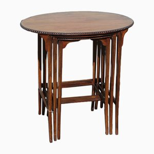 Tavolini ad incastro in mogano, anni '30