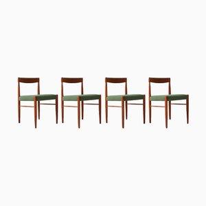 Esszimmerstühle aus Teak von HW Klein für Bramin, 1960er, 4er Set