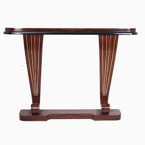 Art Deco Macassar Ebony Console Table, 1930s