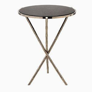 Medium Eclectic Bamboo Stalk Table from Brass Brothers