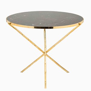 Large Eclectic Bamboo Stalk Table from Brass Brothers