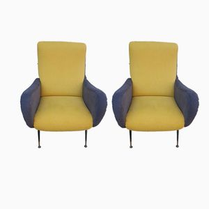 Vintage Lounge Chairs by Marco Zanuso, 1960s, Set of 2
