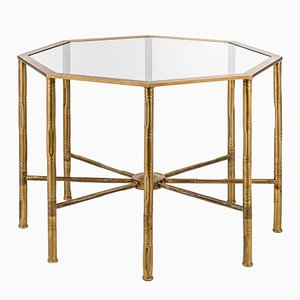 Eclectic Bamboo Octagonal Table from Brass Brothers