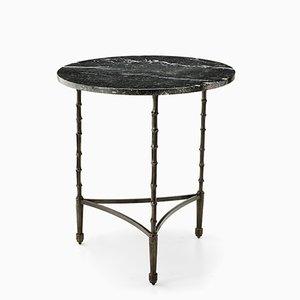Eclectic Tisch mit Gestell in Bambusstiel-Optik & Marmorplatte von Brass Brothers