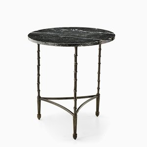 Marble Eclectic Bamboo Stalks Table from Brass Brothers