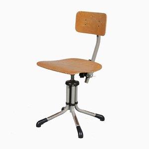 Sedia da scrivania vintage industriale di Gebr. de Wit, anni '50