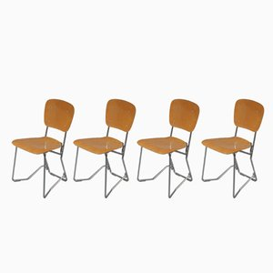 Aluflex Chairs by Armin Wirth for Zollinger Sohre, 1950s, Set of 4