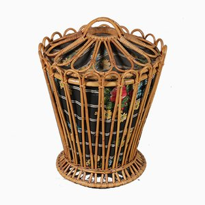 Vintage Rattan Basket, 1950s