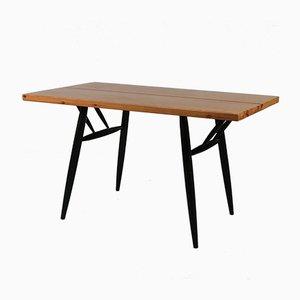 Tavolino in pino, anni '50
