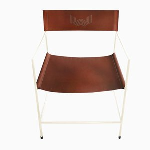 Nr. 14 Armlehnstuhl mit maßgefertigtem Leder von Christian Watson