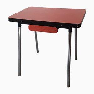Red Formica Table, 1960s