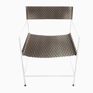 Weißer Nr. 14 Sessel mit Leder in Fliesen-Optik von Christian Watson