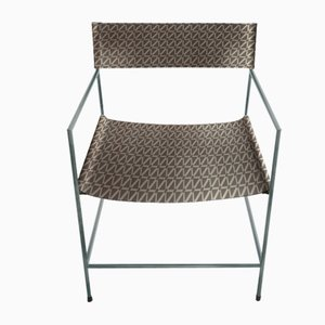 No. 14 Slate Armchair with Stone Tile Leather by Christian Watson