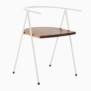 No. 52 London Cafe Chair in White and London Plane by Christian Watson