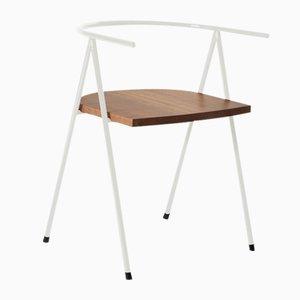Nr. 52 London Cafe Chair aus Nussholz in Weiß von Christian Watson