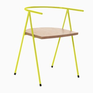 No. 52 London Cafe Chair in Lemon and Birch Ply by Christian Watson