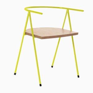 Nr. 52 London Cafe Chair aus Birkenholz in Zitronengelb von Christian Watson