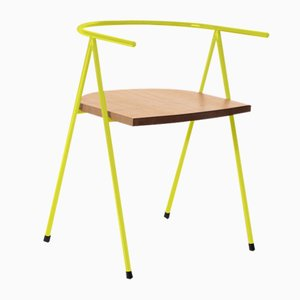 No. 52 London Cafe Chair in Lemon and Oak by Christian Watson