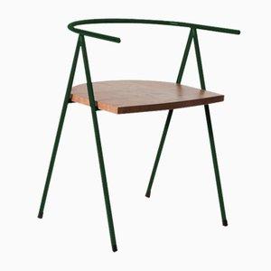 Nr. 52 London Cafe Chair aus London Plane in Dunkelgrün von Christian Watson