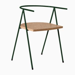No. 52 London Cafe Chair in Hunter Green and Cork by Christian Watson