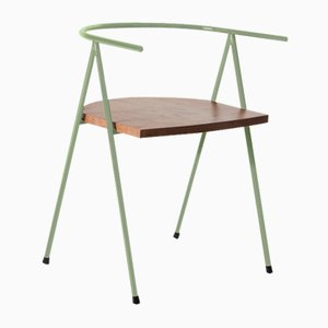 No. 52 London Cafe Chair in Moss and London Plane by Christian Watson