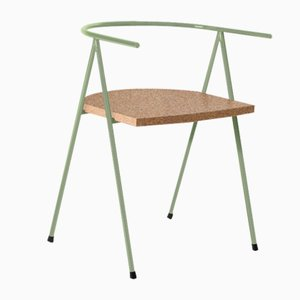 No. 52 London Cafe Chair in Moss and Cork by Christian Watson