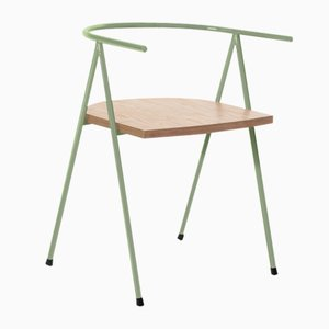 No. 52 London Cafe Chair in Moss and Birch Ply by Christian Watson