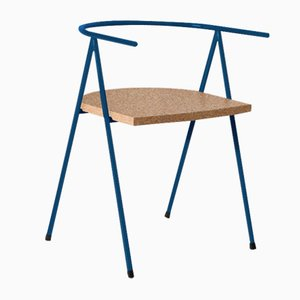 No. 52 London Cafe Chair in Ocean Blue and Cork by Christian Watson
