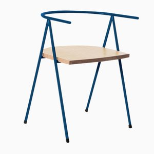 No. 52 London Cafe Chair in Ocean Blue and Ash by Christian Watson