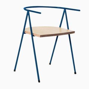 Nr. 52 London Cafe Chair aus Esche in Ozeanblau von Christian Watson
