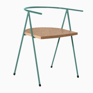 No. 52 London Cafe Chair in Glacier Blue and Cork by Christian Watson