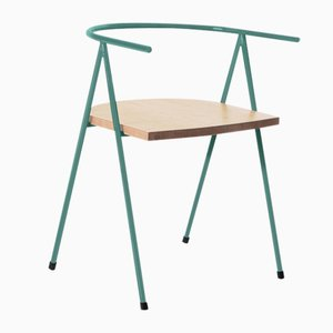 No. 52 London Cafe Chair in Glacier Blue and Ash by Christian Watson