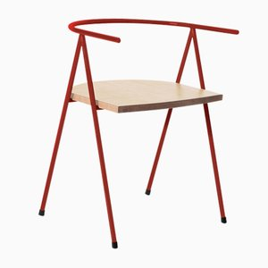No. 52 London Cafe Chair in Crimson and Ash by Christian Watson