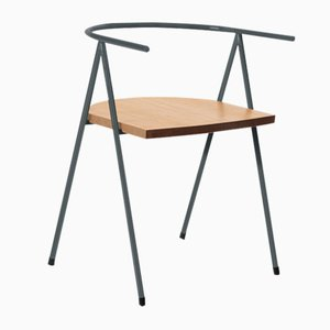 No. 52 London Cafe Chair in Slate Gray and Oak by Christian Watson