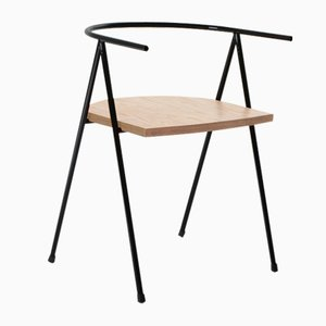 No. 52 London Cafe Chair in Black and Birch Ply by Christian Watson