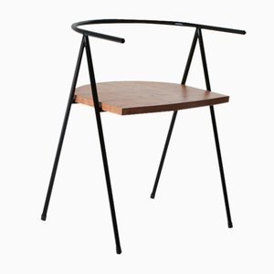 Nr. 52 London Cafe Chair aus London Plane in Schwarz von Christian Watson