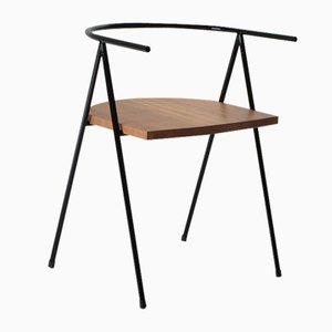 No. 52 London Cafe Chair in Black and Walnut by Christian Watson