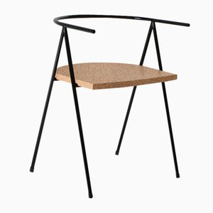 No. 52 London Cafe Chair in Black and Cork by Christian Watson