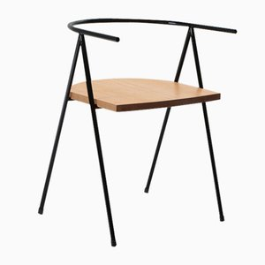 No. 52 London Cafe Chair in Black and Oak by Christian Watson