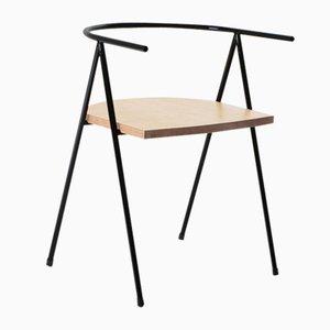 Nr. 52 London Cafe Chair aus Eschenholz in Schwarz von Christian Watson