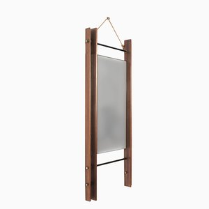 Rectangular Mirror with Double Teak Frame, 1950s
