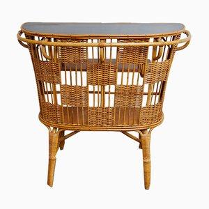 Mueble bar de caña, años 60