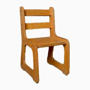 Sedia da bambino vintage in legno