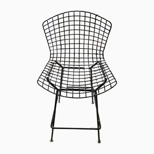 Black Rilsan Bar Stool by Harry Bertoia for Knoll International, 1980s