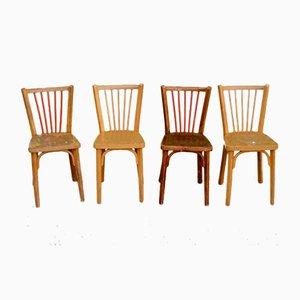 Mid-Century Bistro Chairs from Baumann, Set of 4